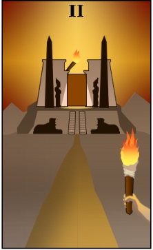 Temple of Ra / Two of Wands