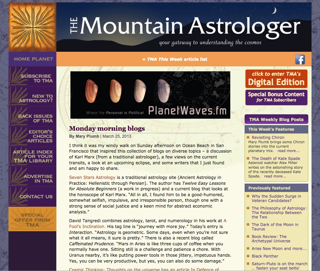 Mountain Astrologer Quote